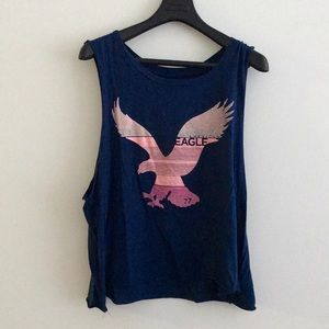 AE tank top navy